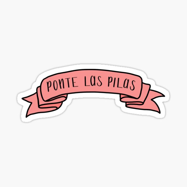 Ponte Las Pilas - Pink Ribbon Sticker