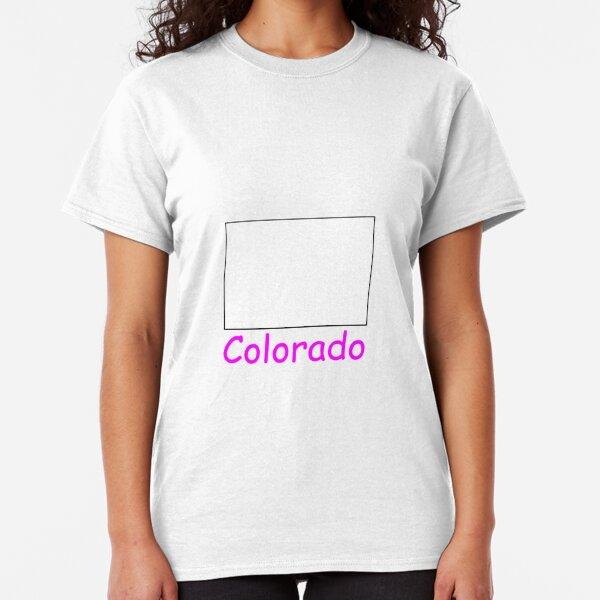 Colorado Map Shirt Classic T-Shirt