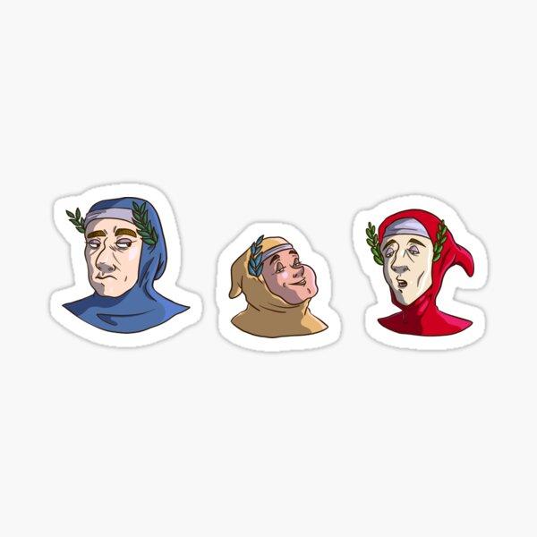 Dante Petrarca & Boccaccio Sticker