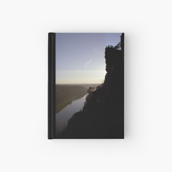 Bastei, lookout over the Elbe valley, Germany Hardcover Journal