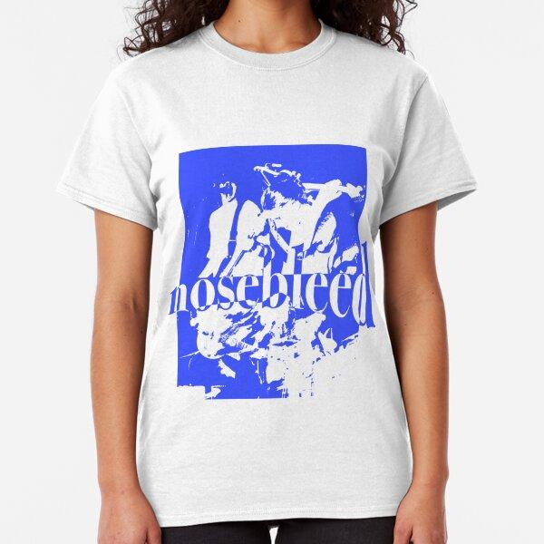 Nosebleed Skeleton T-shirt (BLUE ON WHITE) Classic T-Shirt