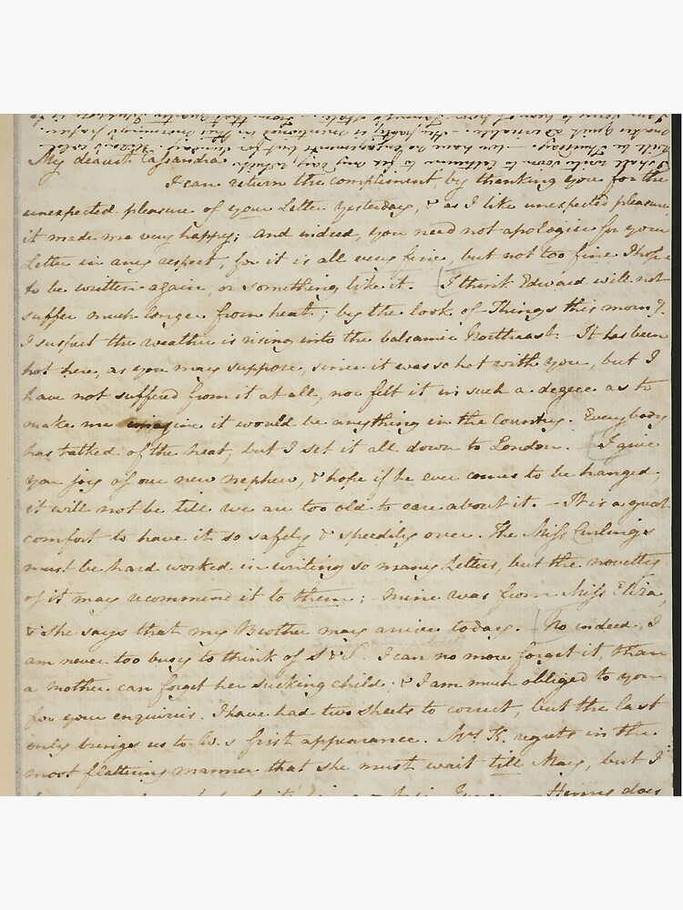Jane Austen Manuscript by daltonrowe