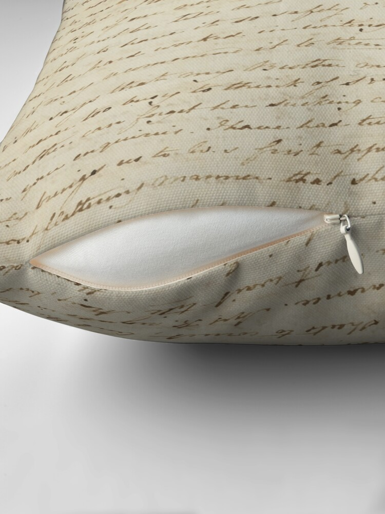 Alternate view of Jane Austen Manuscript Throw Pillow
