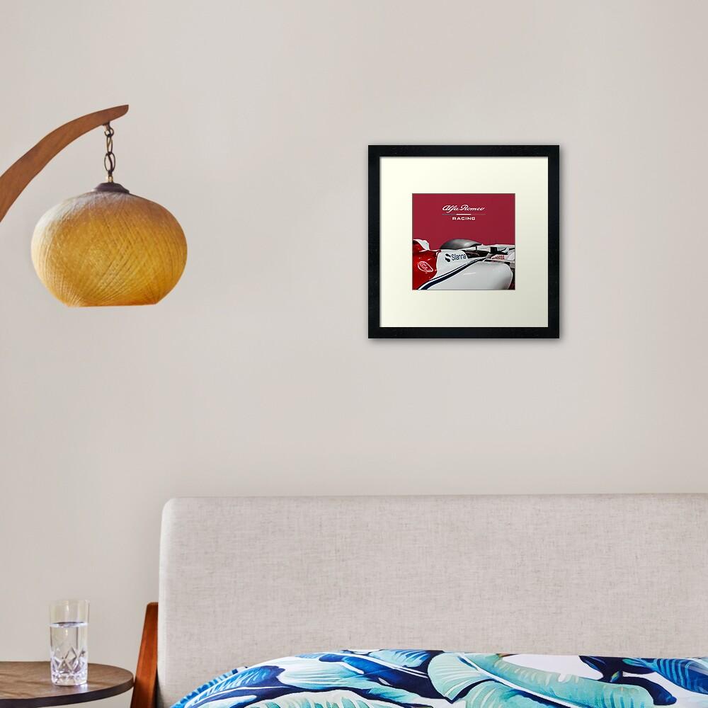 Alfa Romeo Racing Formula 1 Team Framed Art Print