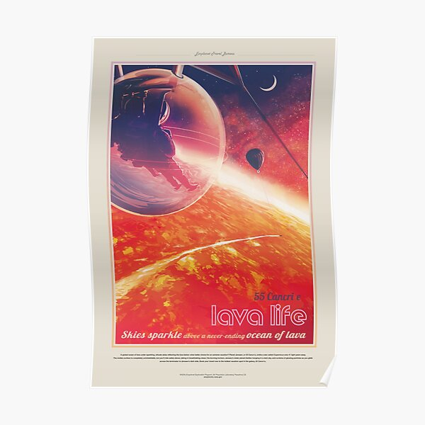 NASA JPL Exoplanet Travel Bureau: 55 Cancri e (8K resolution) Poster
