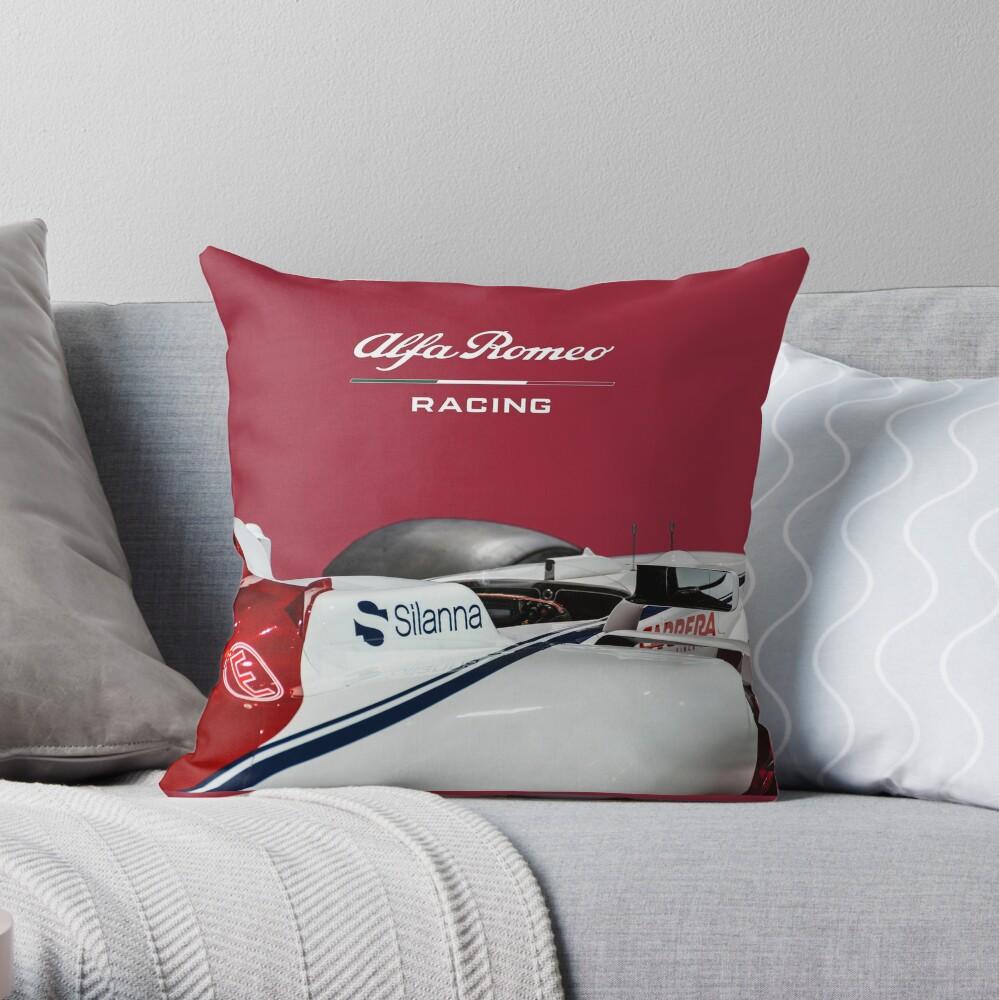 Alfa Romeo Racing Formula 1 Team Throw Pillow