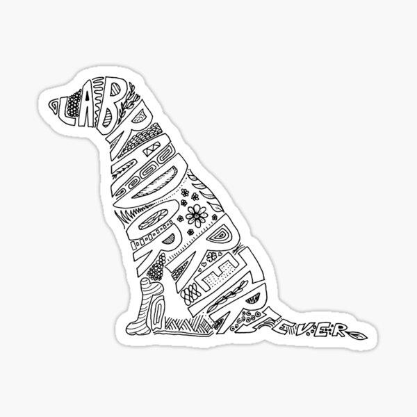 Black Labrador Retriever Doodle for Dog Lovers Sticker