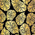 Shiny Gold Art by Sandra Hutter