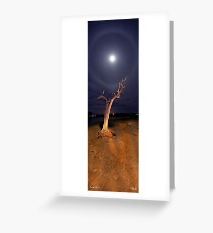Moon Halo Greeting Card