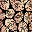Copper Leaf Pattern by Sandra Hutter