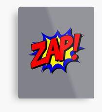 Lustiger Weinlese-Comic-Buch-Art-Klangeffekt Zap Metallbild