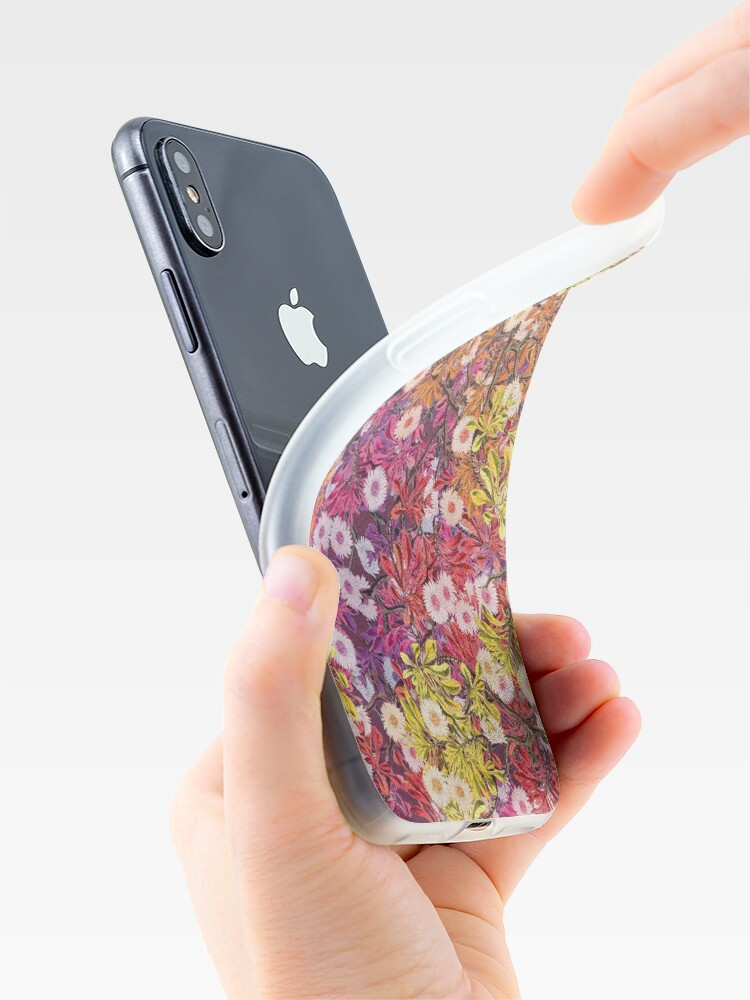 Alternate view of Floral Psychedelic Pattern iPhone Case & Cover
