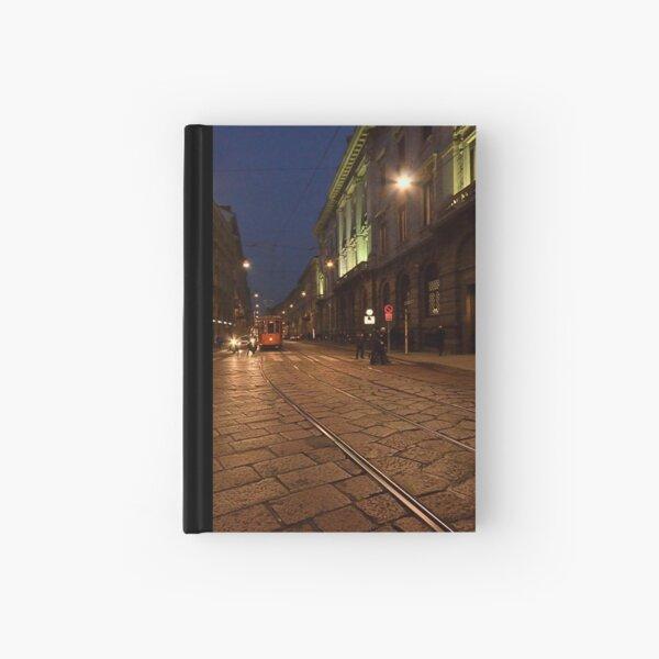 Per le vie di Milano di sera Hardcover Journal