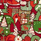 Red Christmas Presents by Sandra Hutter