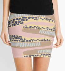 Abstract shapes. Spotted and textured figures. Unique design Mini Skirt