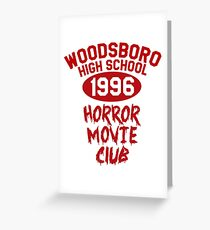 Woodsboro High Horror Movie Club 1996 Greeting Card