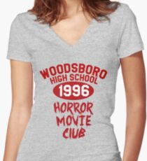 Woodsboro High Horror Movie Club 1996 Women's Fitted V-Neck T-Shirt