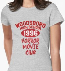 Woodsboro High Horror Movie Club 1996 Womens Fitted T-Shirt