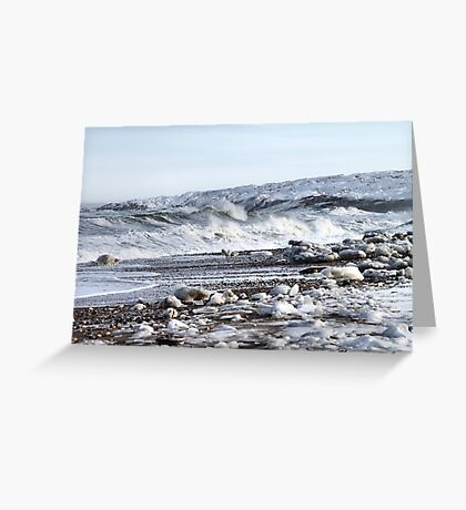 Glassy Surfaces Greeting Card