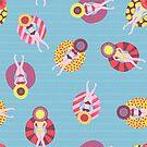 Women Pool Floaties by Sandra Hutter