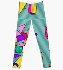 Geometric pattern in memphis 80s style Leggings