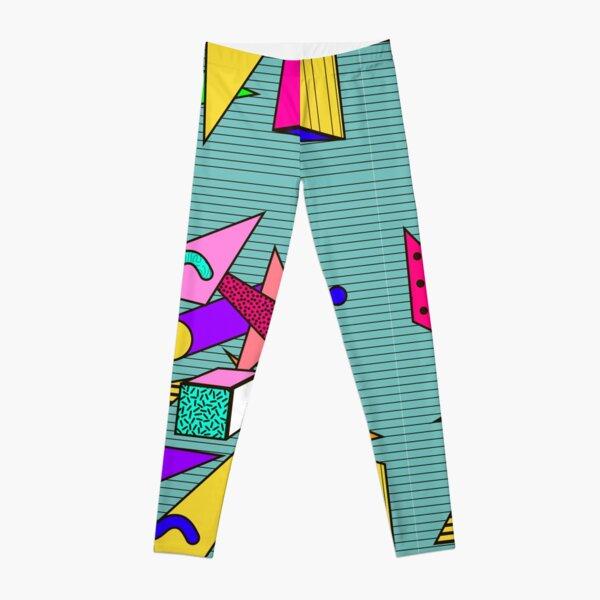 Geometric pattern in memphis 80s style Leggings
