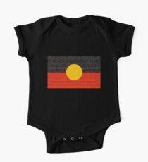 Aboriginal flag Short Sleeve Baby One-Piece
