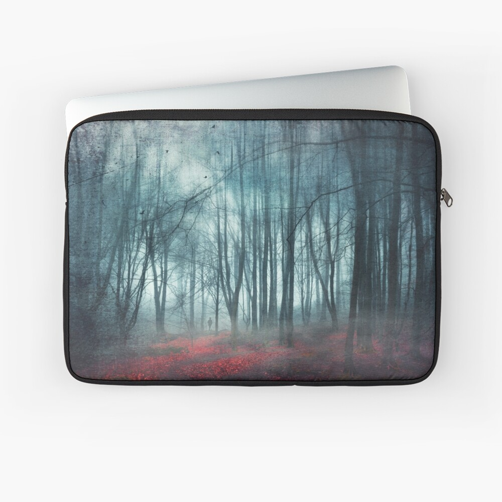 escape route - misty forest scenery Laptop Sleeve