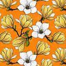 Magnolia garden in yellow by Katerina Kirilova