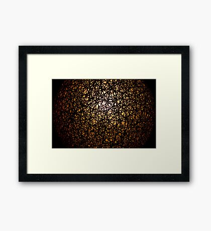 Emerging from the darkness Framed Print