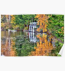 Reflections of the Seasons on Island Pond Poster