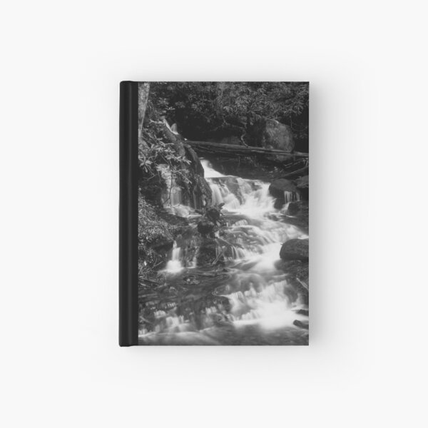 Falls in Black and White Hardcover Journal