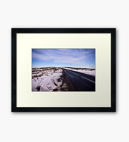 A Winters Road #2 Framed Print