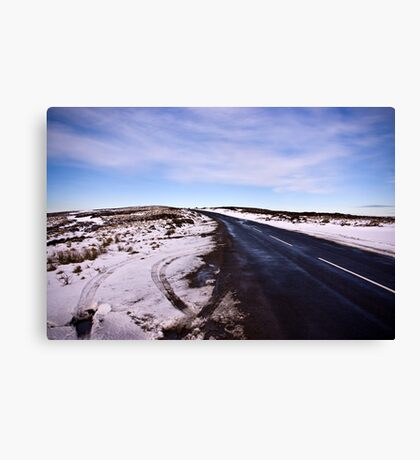A Winters Road #2 Canvas Print