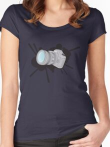 Canon 5DmkII Camera Splash Women's Fitted Scoop T-Shirt