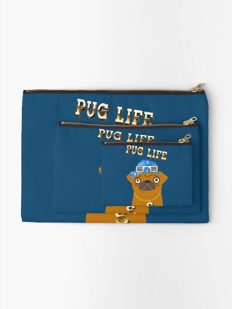 Vista alternativa de Bolsos de mano ¡El perro Gangsta de Pug Life ama los dólares y las perras con la espalda!