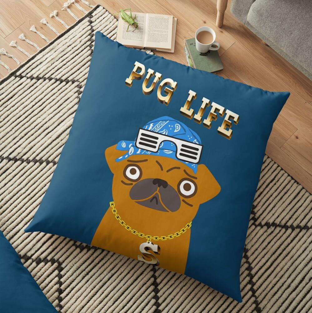 ¡El perro Gangsta de Pug Life ama los dólares y las perras con la espalda! Cojines de suelo