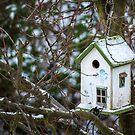 Snowy Forest Birdhouse Haven by GypseaDesigns