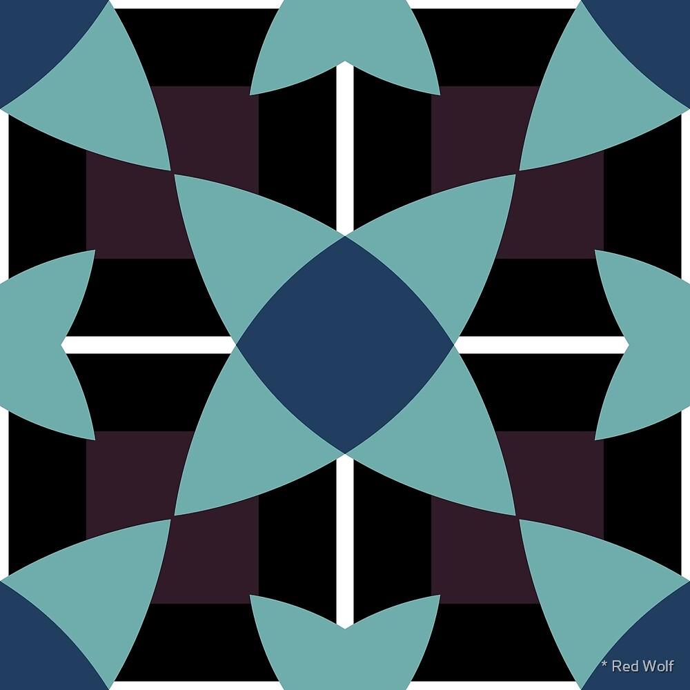 Geometric Pattern: Flower Weave: Midnight by * Red Wolf