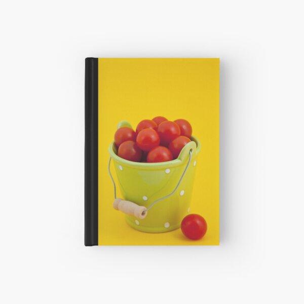 Bucket of cherry tomatoes Hardcover Journal