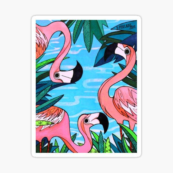 Miami (Flamingo Beach Party) Sticker