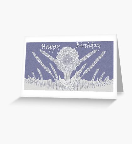 Happy Birthday in Mauve Greeting Card