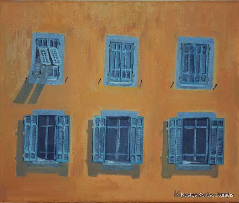 Blue Windows by Kostas Koutsoukanidis