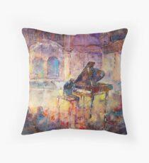 Piano Recital - Classical Pianist In Concert Throw Pillow
