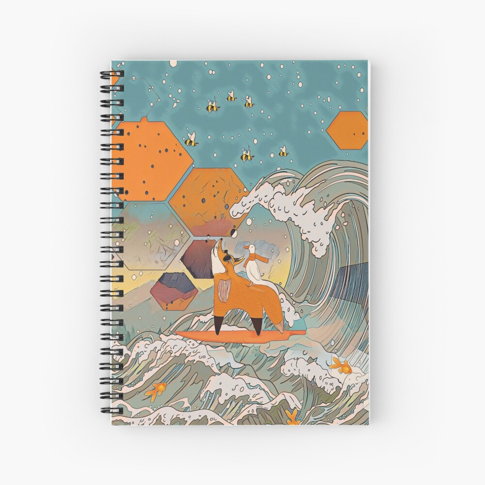 The fox and the duck Spiral Notebook