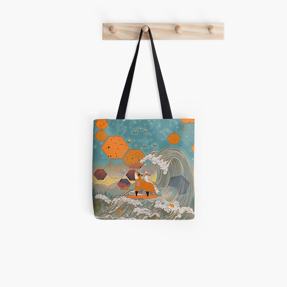 The fox and the duck Tote Bag