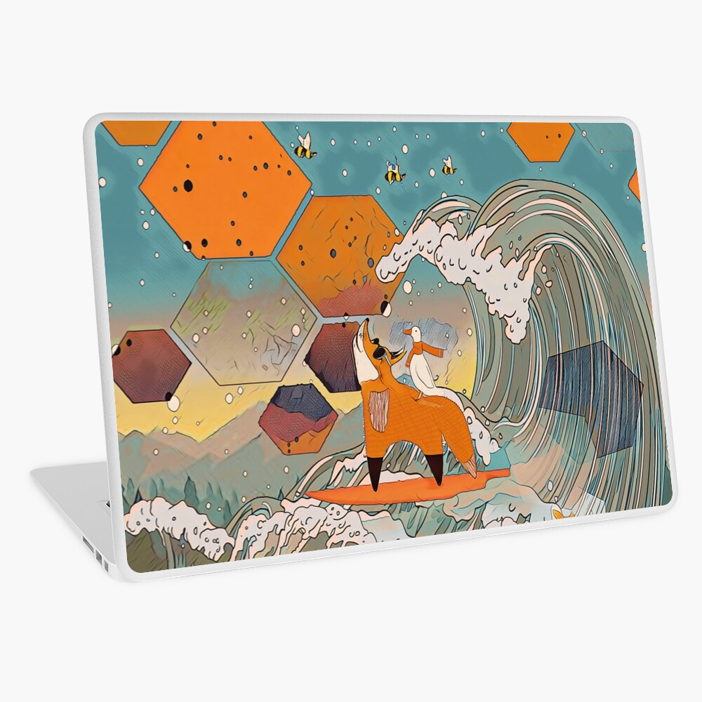 The fox and the duck Laptop Skin