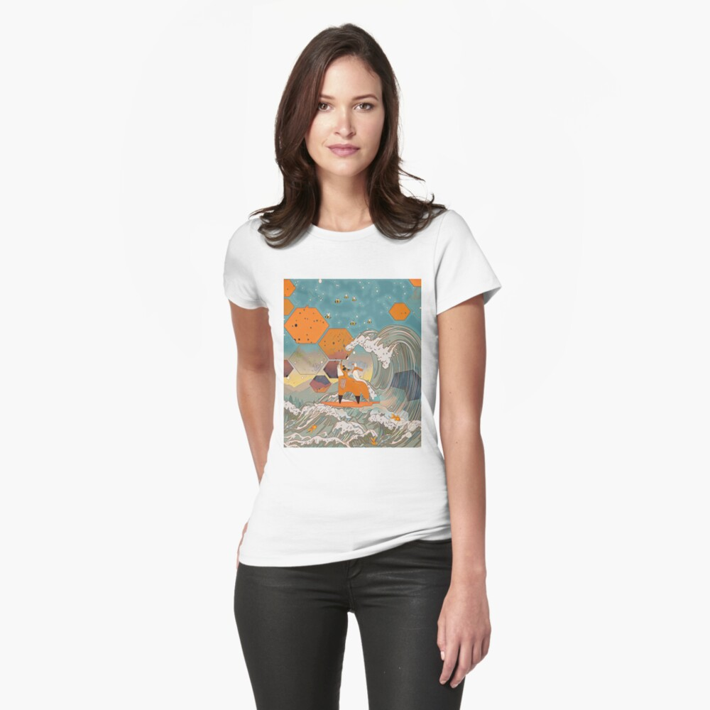 The fox and the duck Fitted T-Shirt
