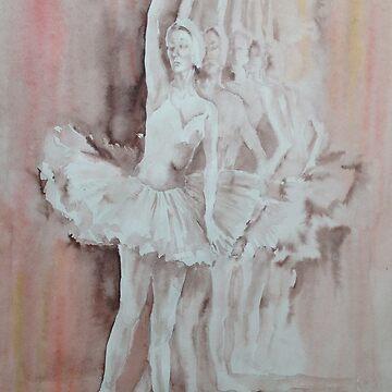 Swan Lake - Ballet Painting - Dance Art Gallery by ballet-dance