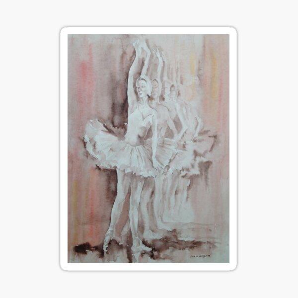 Swan Lake - Ballet Painting - Dance Art Gallery Sticker